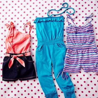 Let's Go Play: Girls' Rompers