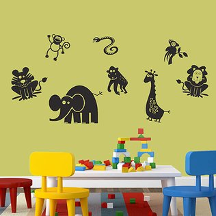 Silly Safari: Animal Art & Décor
