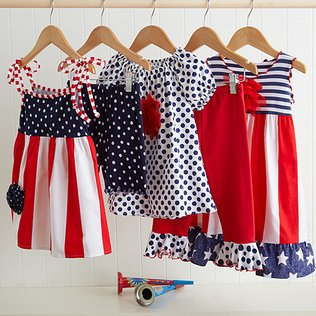 Red, White & Cute: Girls' Apparel
