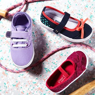 Frolicking Feet: Girls' Canvas Kicks