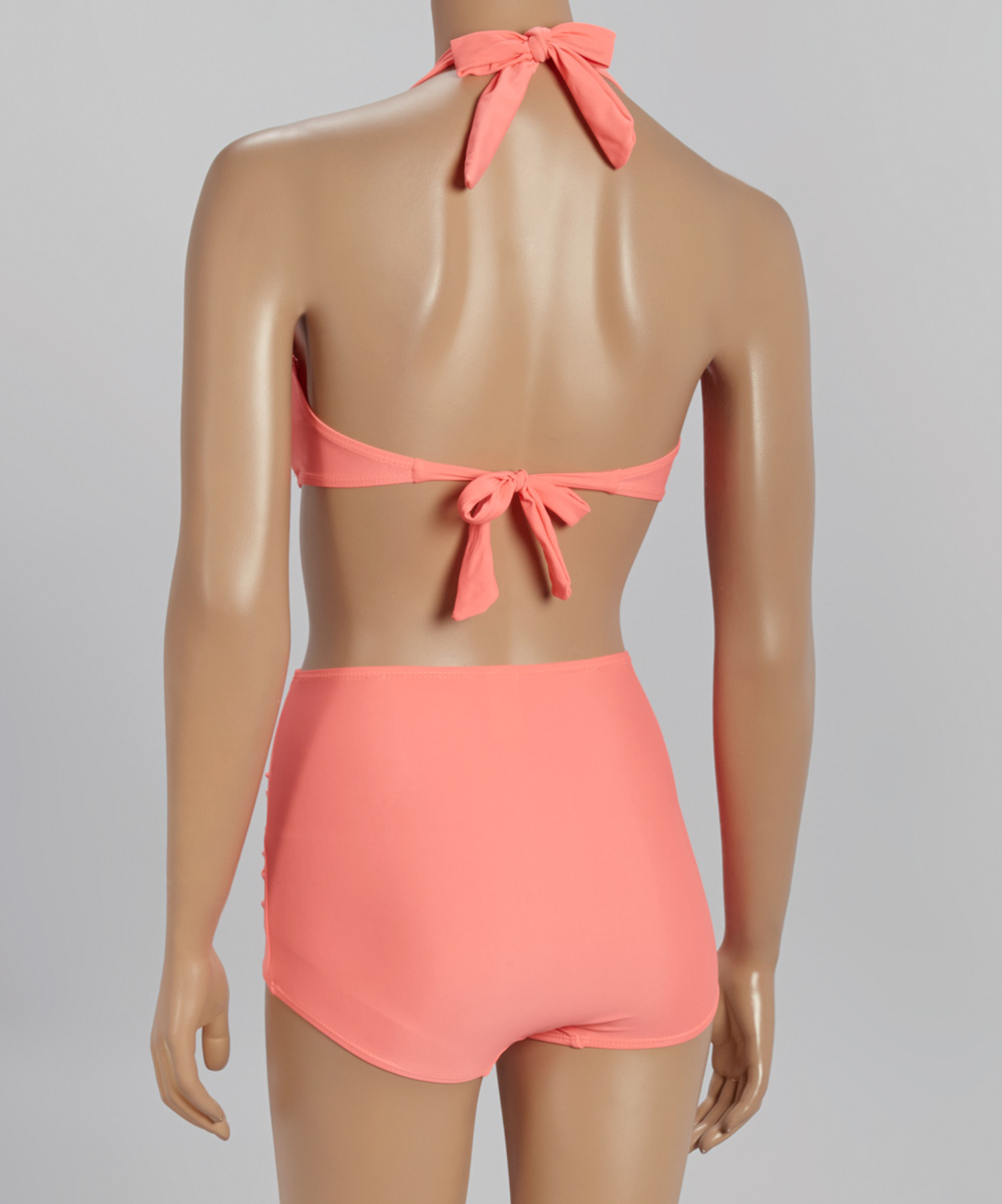 Ruched High-waist Bikini