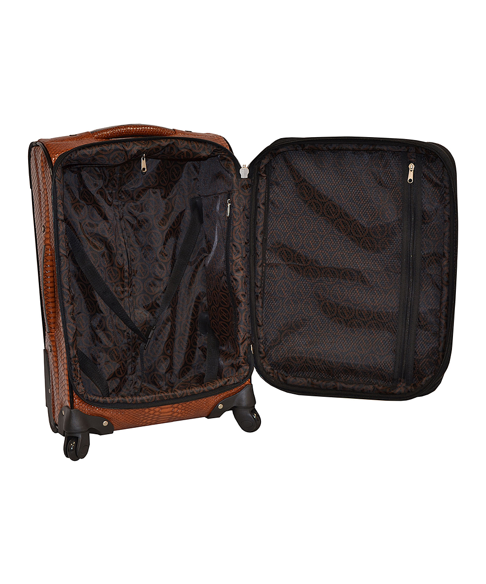 faux alligator luggage brands