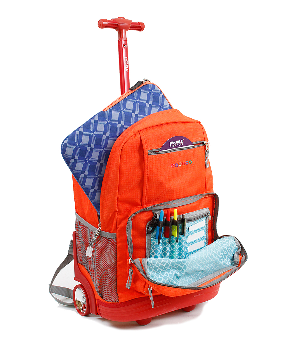 Orange Rolling Backpack