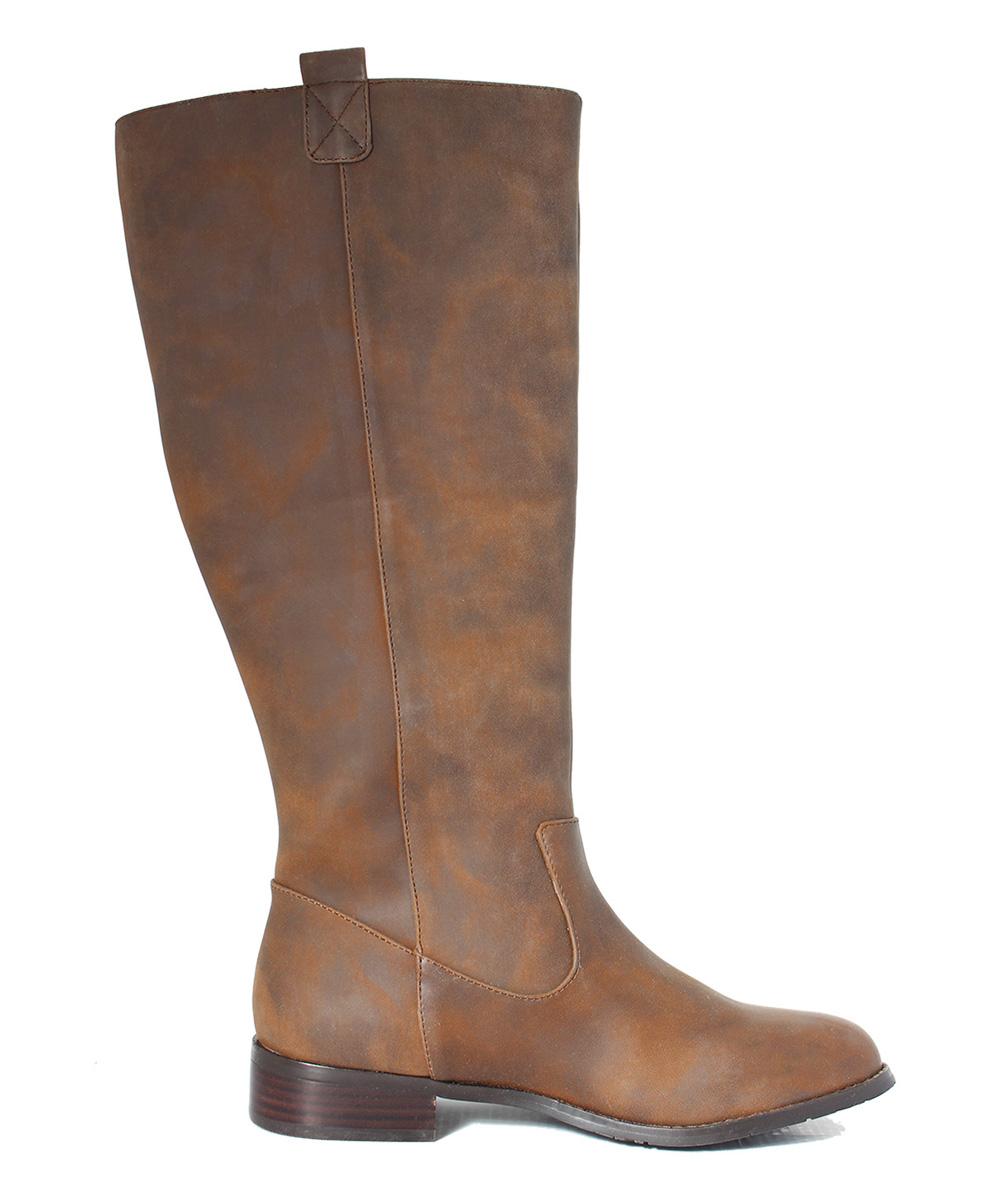 intaglia brown tuscon wide calf boot zulily