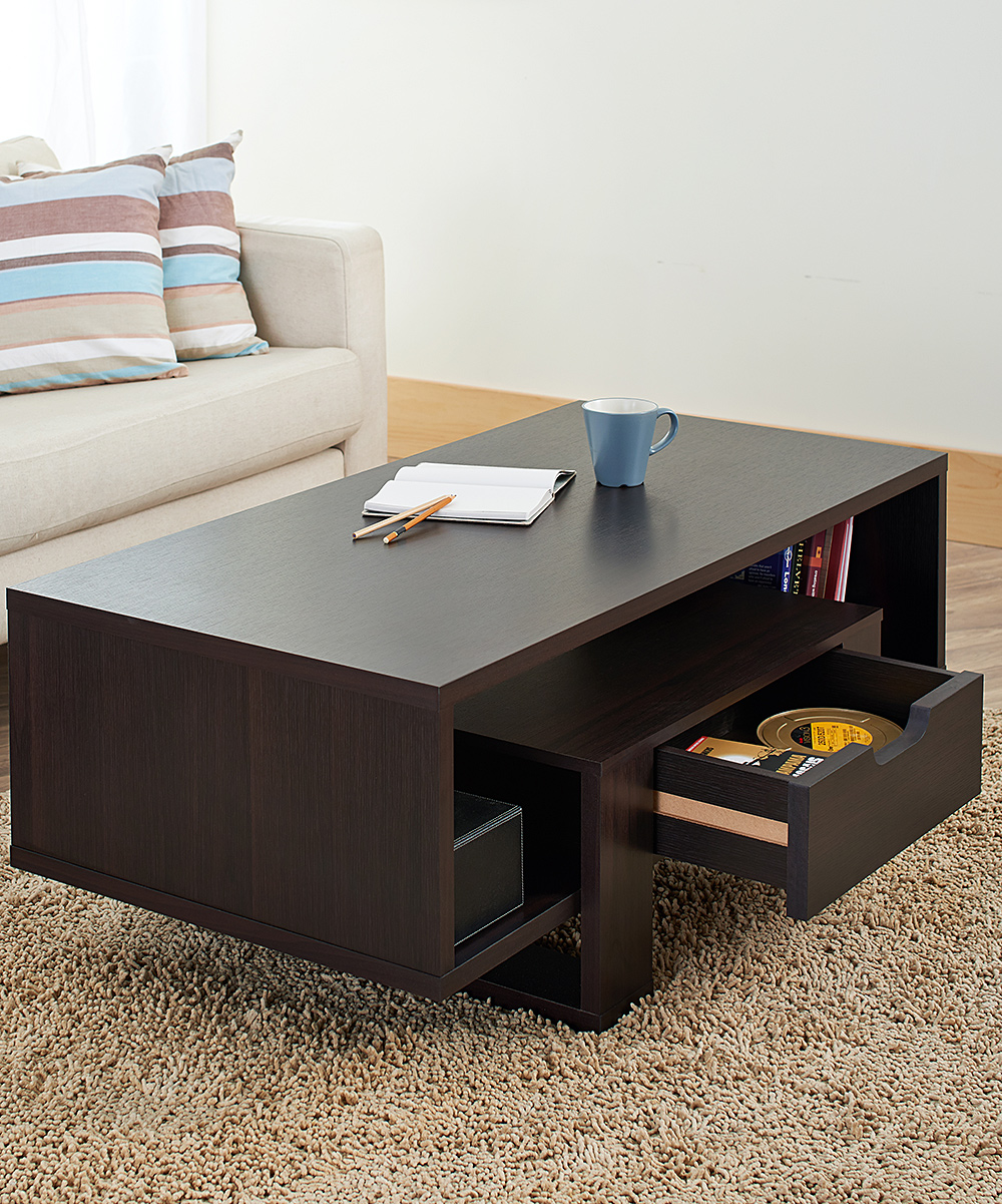 Furniture Of America Vintage Walnut Modern Two Drawer Coffee Table Zulily