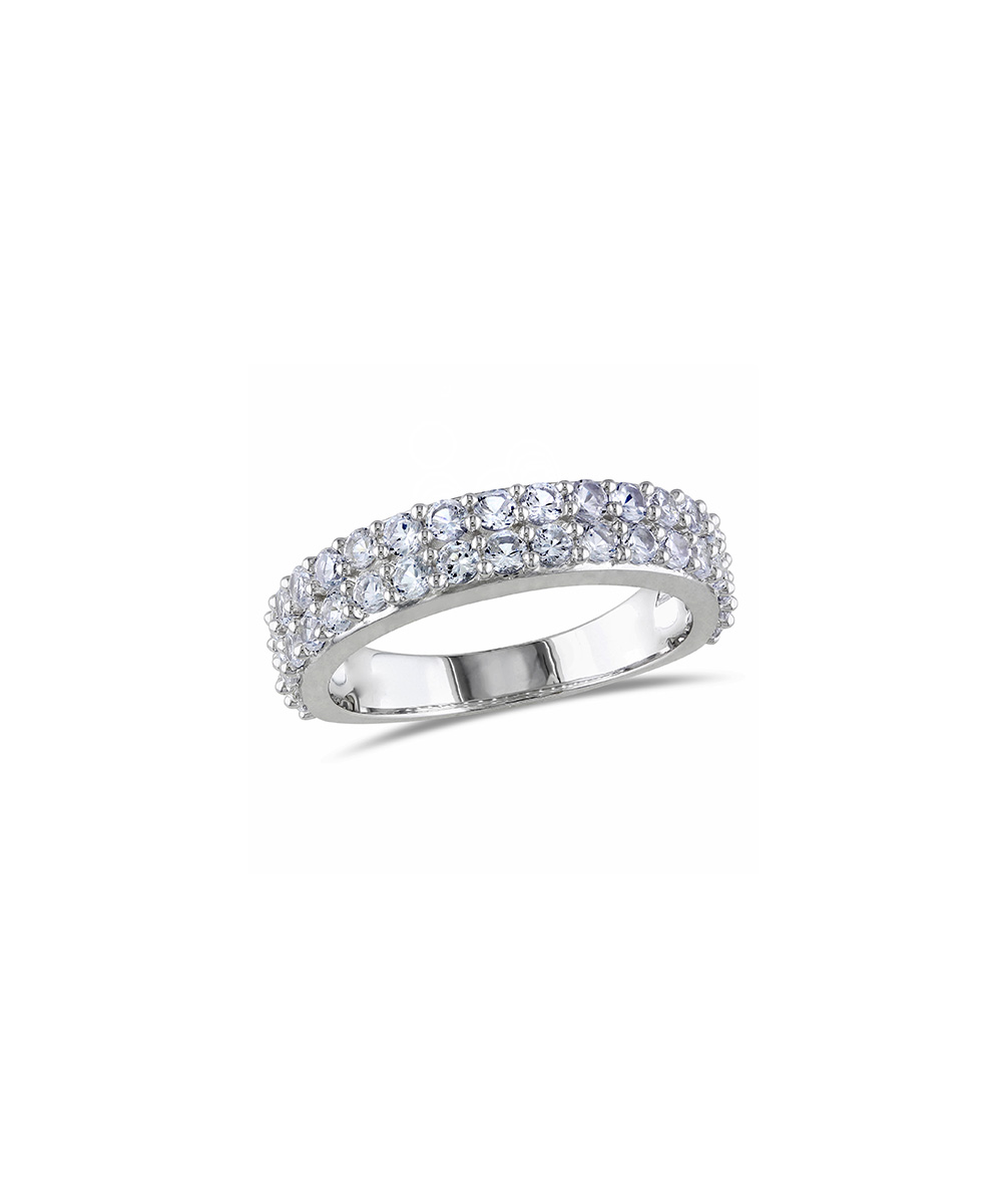 white sapphire sterling silver micropav 233 ring zulily