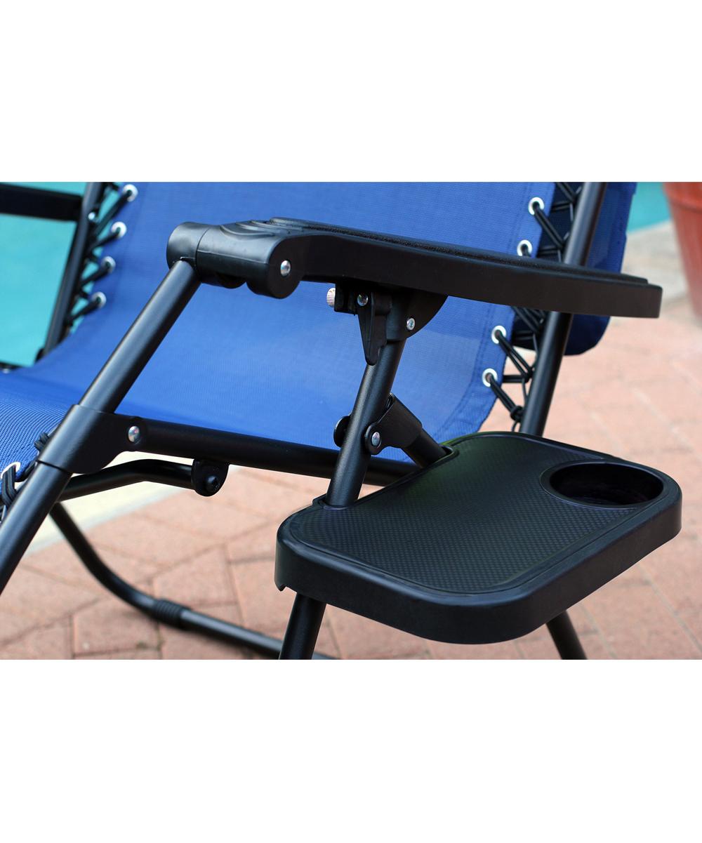 Jeco Inc Steel Blue Oversize Zero Gravity Chair