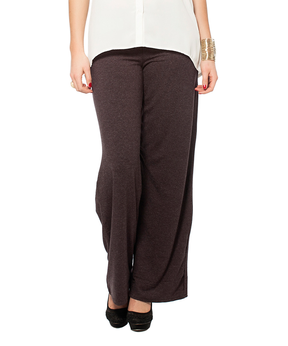 Model Miss V Dark Brown Casual Pants  Women Amp Plus  Zulily