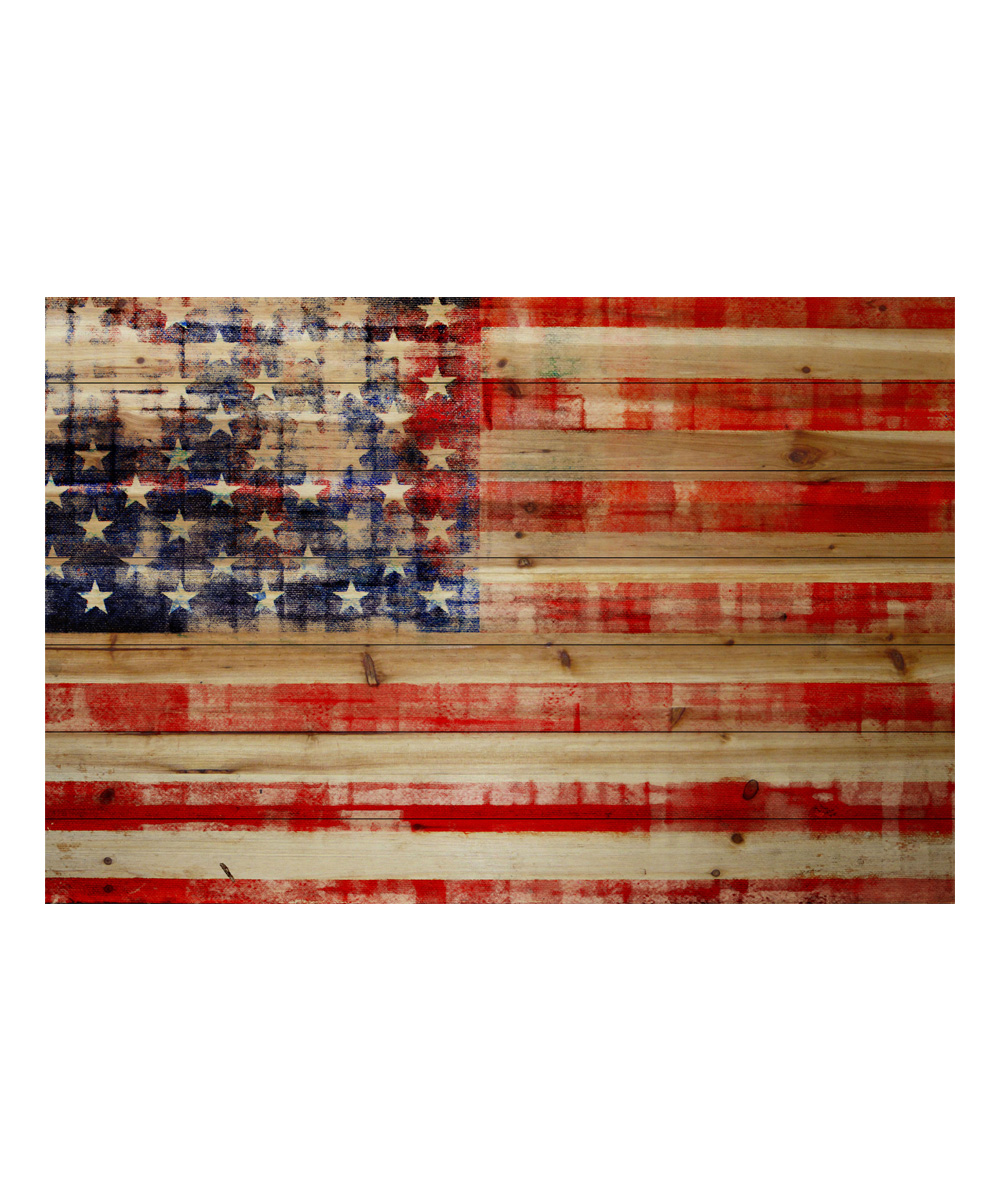 Marmont hill american flag wood wall art zulily American flag wood wall art