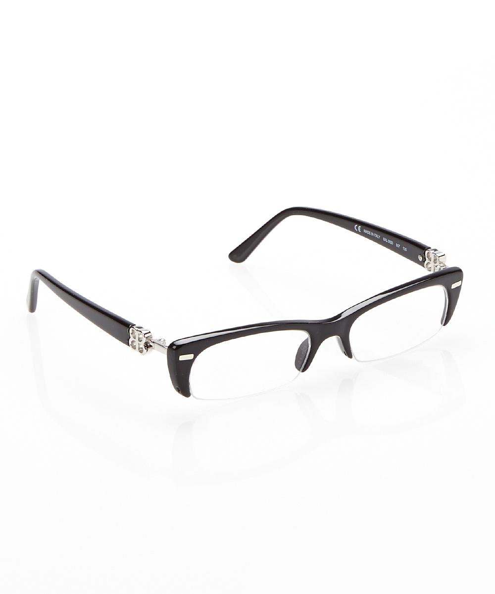 Rimless Rectangle Glasses : Balenciaga Black Semi-Rimless Rectangle Eyeglasses zulily