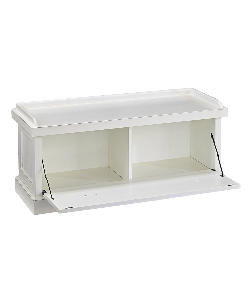 Home Styles Distressed White Nantucket Upholstered Bench Zulily