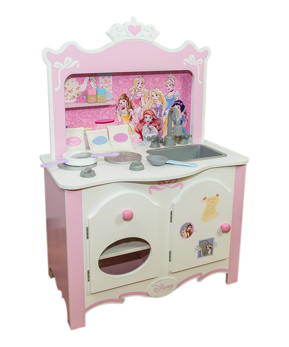 disney princess royal wooden kitchen set zulily