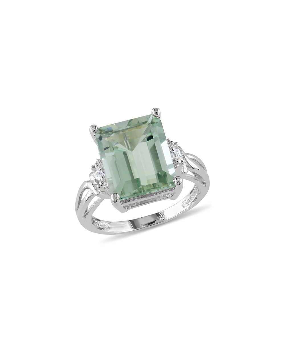 prasiolite white topaz emerald cut ring zulily