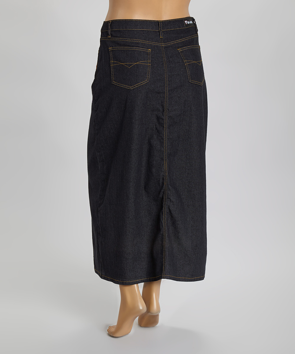 be clothing black embroidered denim skirt plus zulily