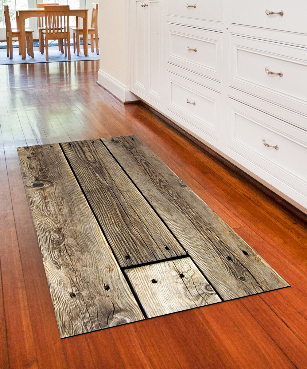 Brown Rustic Wood Faux Flooring