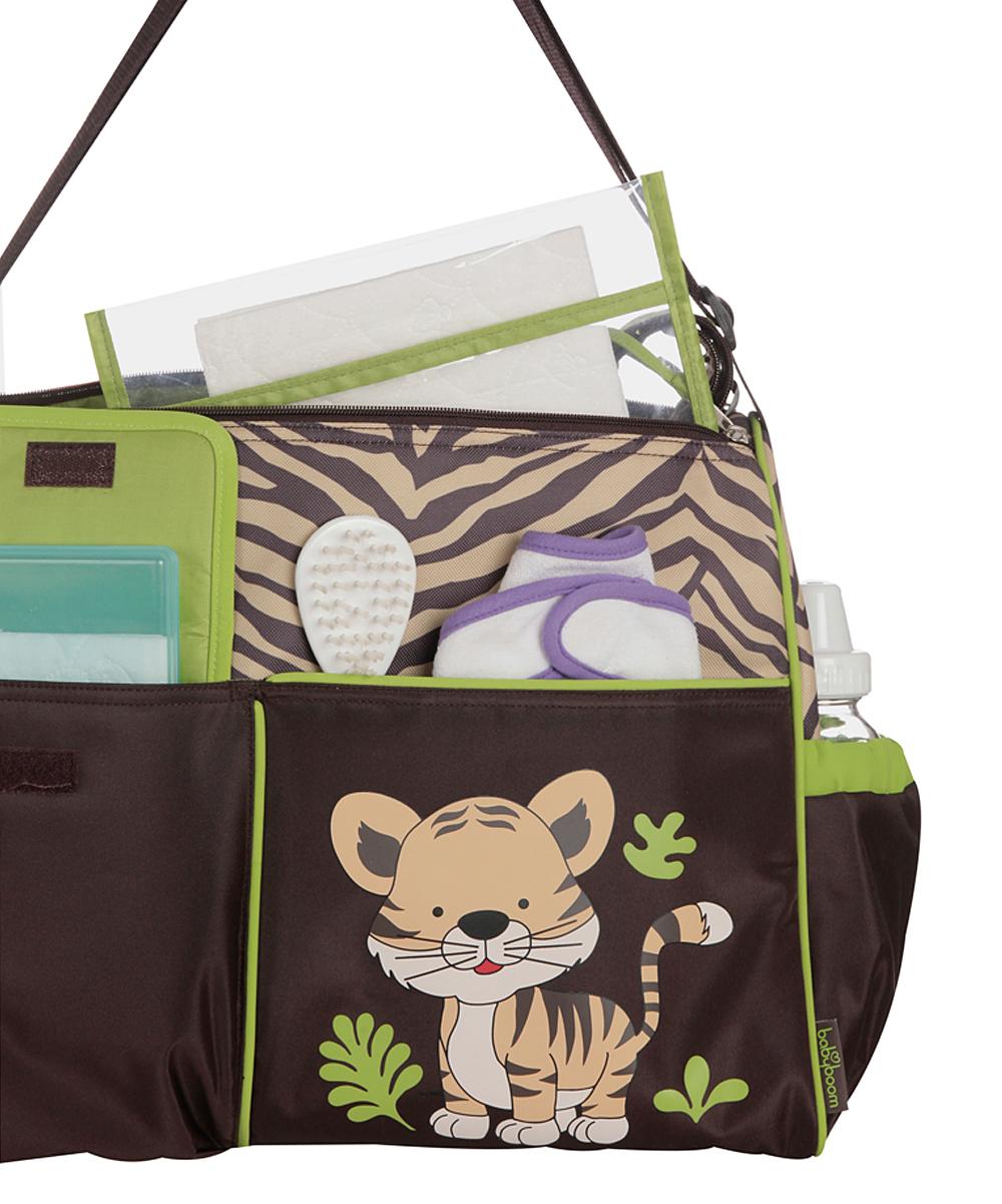baby boom brown tiger duffel diaper bag zulily. Black Bedroom Furniture Sets. Home Design Ideas