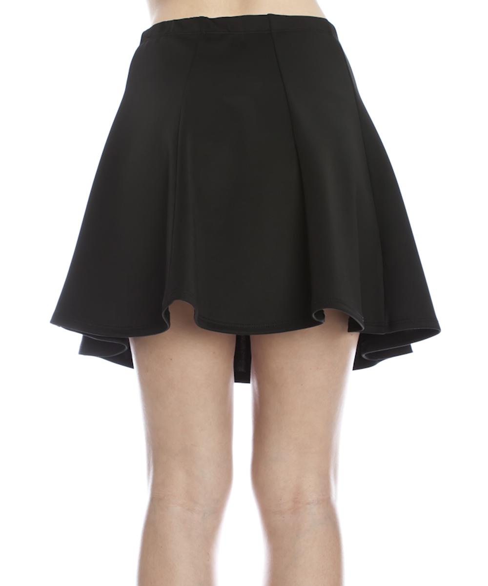 feeling black pleated skirt zulily