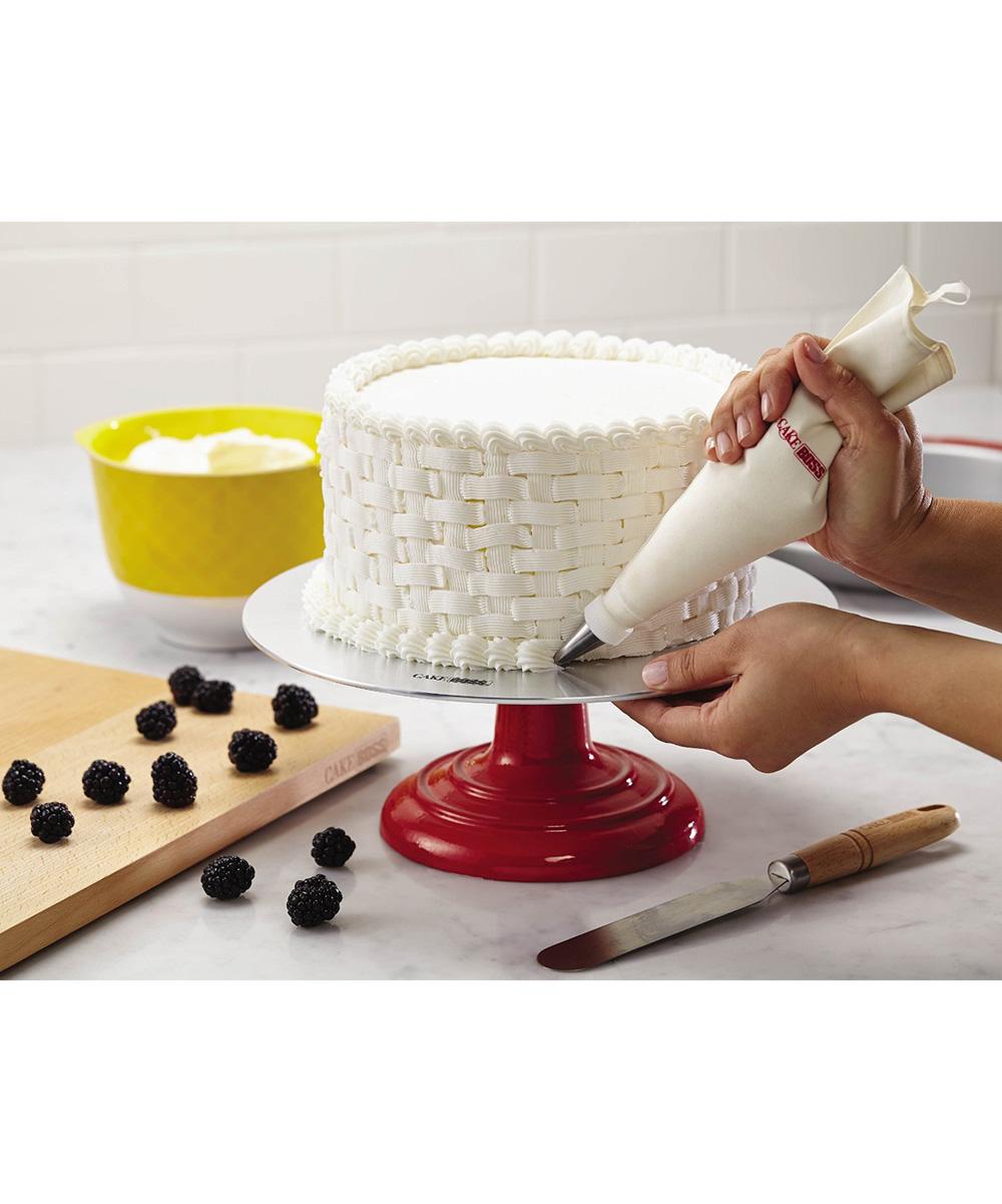 Cake Boss Cast Iron Decorating Turntable : Cake Boss Red Decorating Turntable zulily