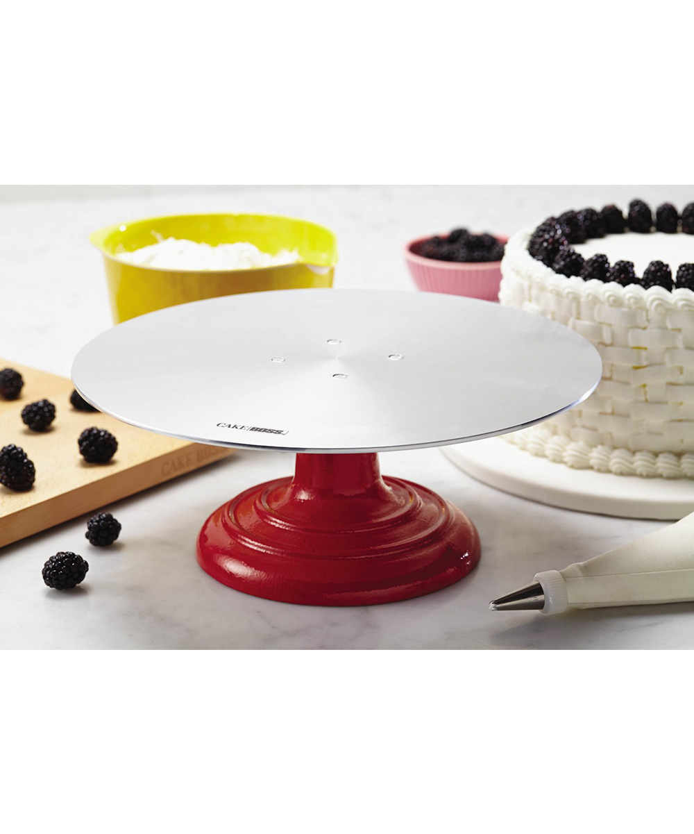 Cake Boss Red Decorating Turntable zulily
