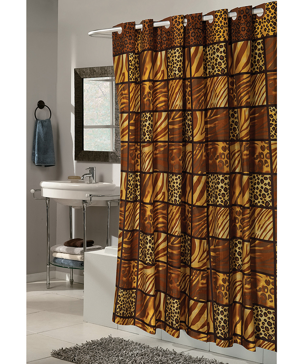 Carnation Home Fashions Wild Encounters Snap On Grommet Shower Curtain Zulily
