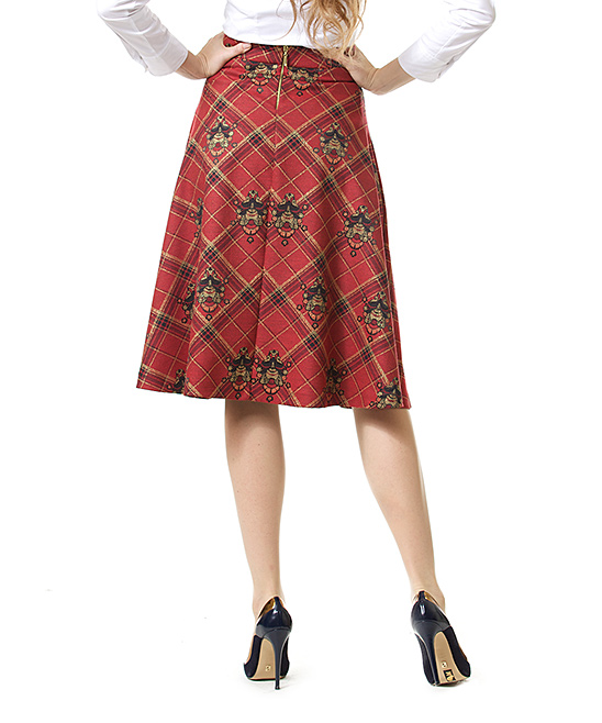 dshea knitwear plaid a line skirt zulily