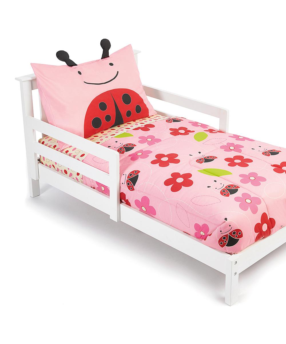 skip hop zoo four piece ladybug toddler bedding set zulily