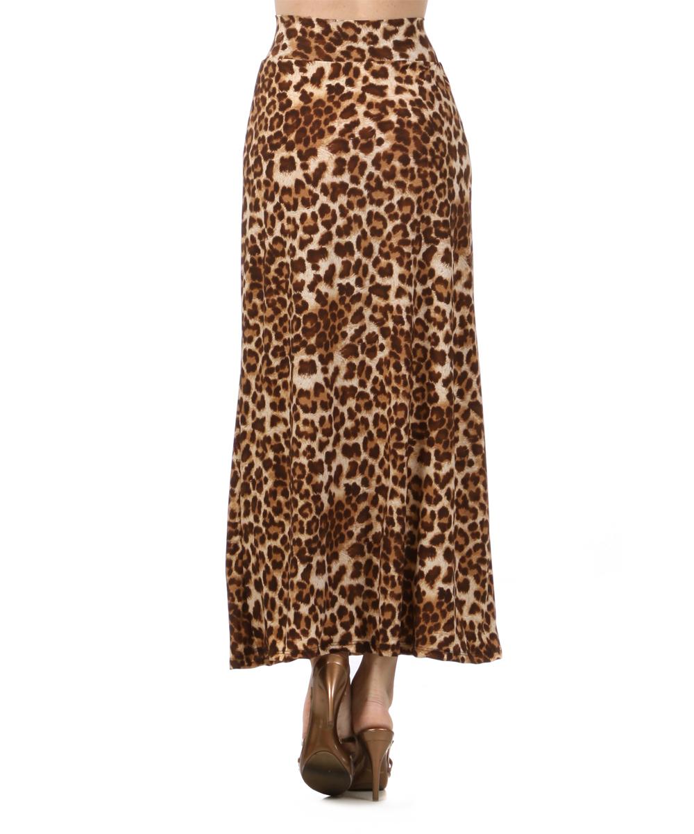 j mode usa los angeles brown leopard maxi skirt zulily