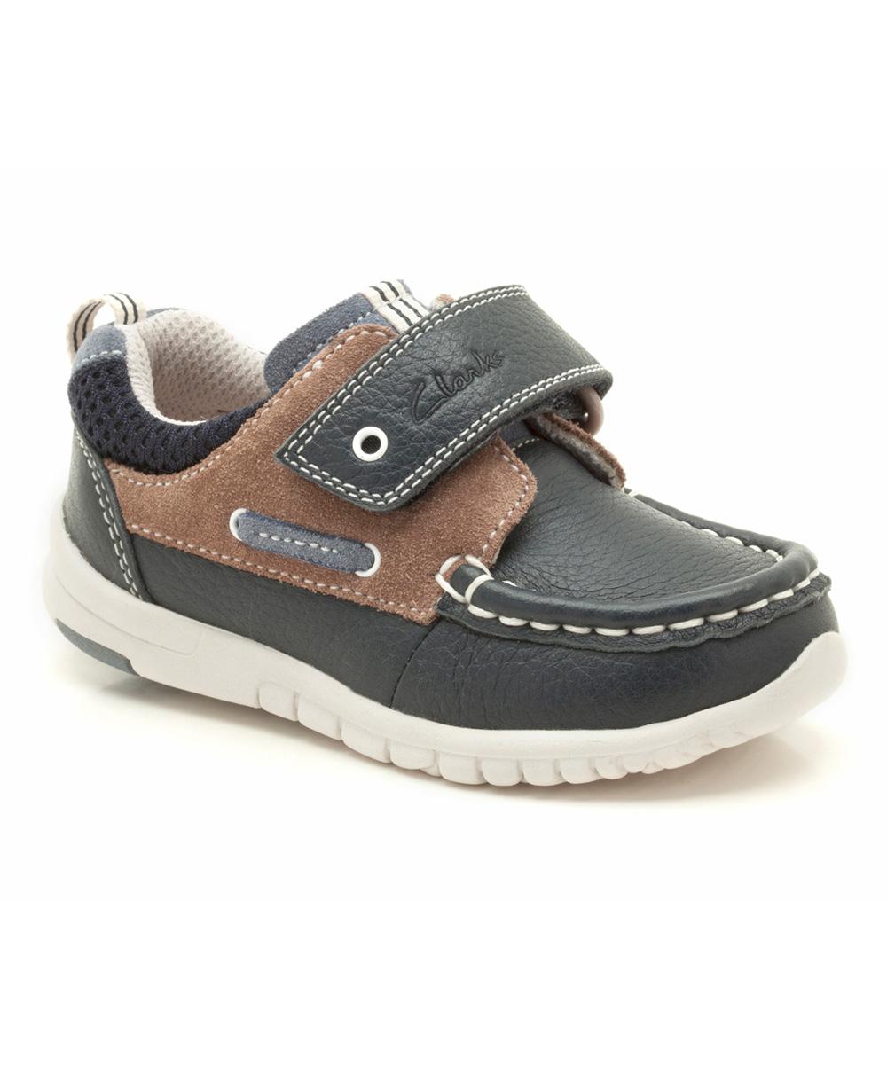 navy brown deck flex leather deck shoe