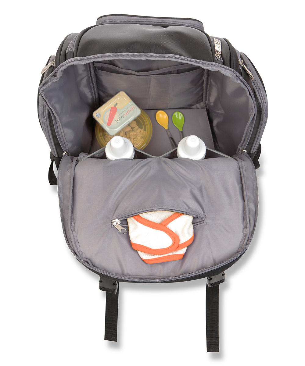 jeep black perfect pockets backpack diaper bag zulily. Black Bedroom Furniture Sets. Home Design Ideas