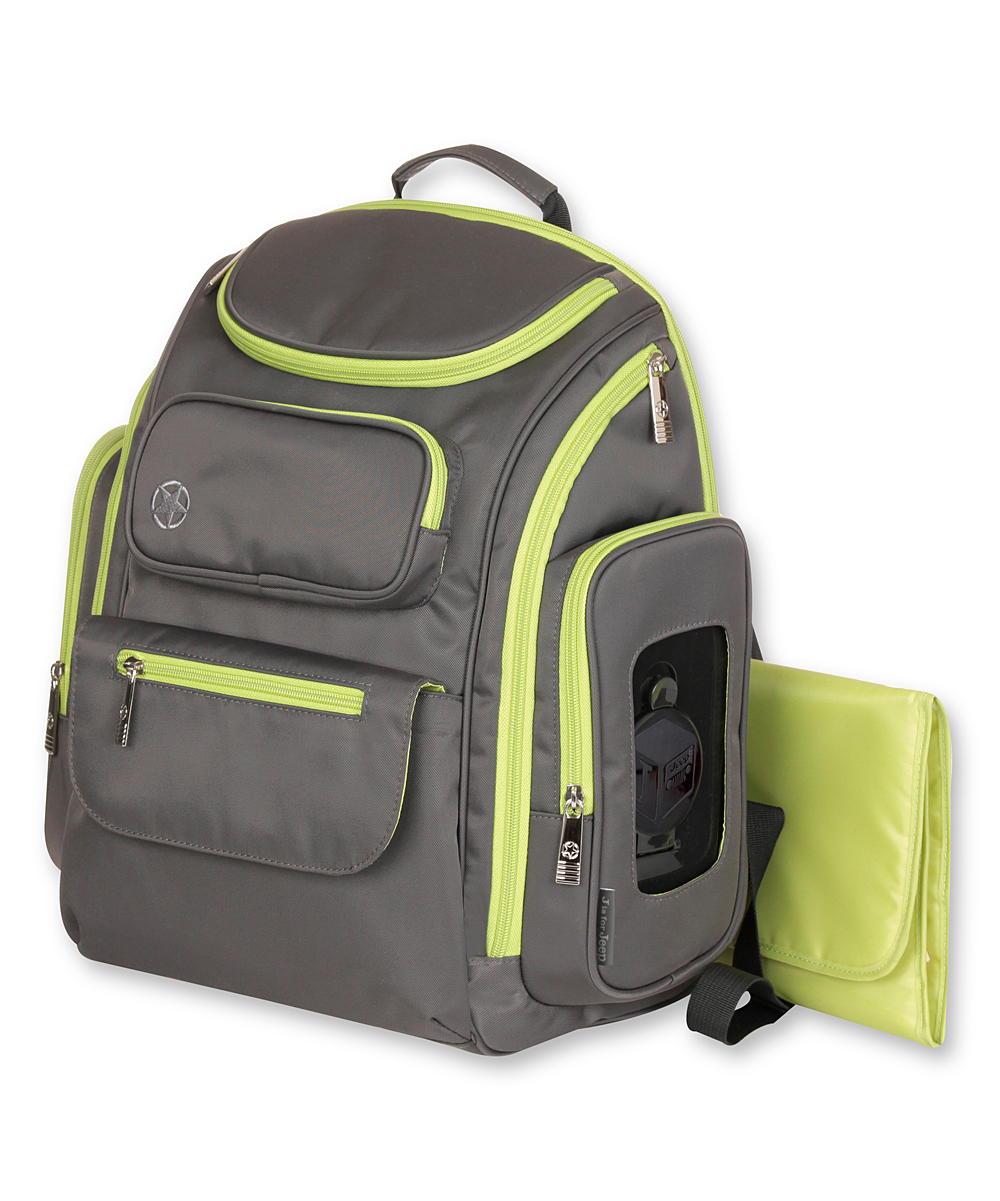 jeep gray perfect pockets backpack diaper bag zulily. Black Bedroom Furniture Sets. Home Design Ideas