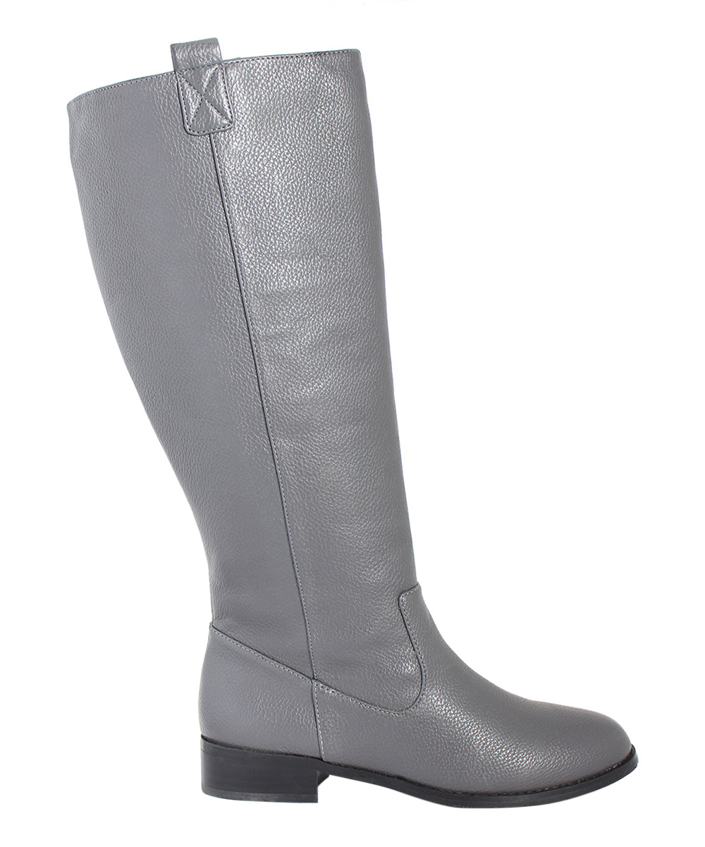 san jacinto boot company gray lone wide calf leather