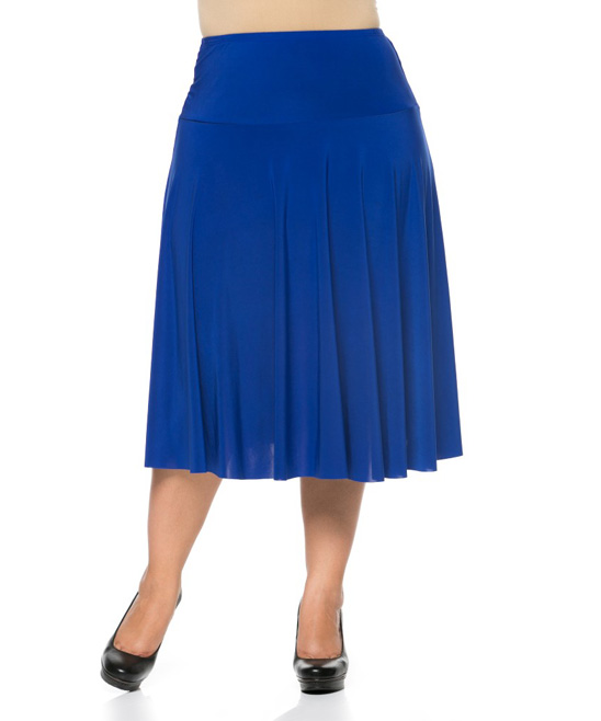 essential collection royal blue pleated a line skirt