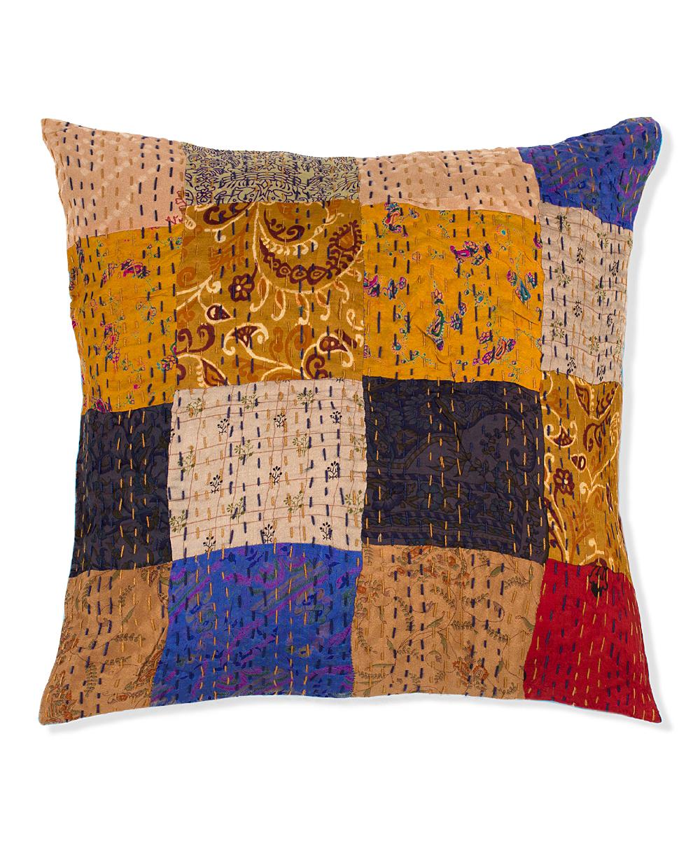 Taj Hotel Handmade Silk Throw Pillow Combo A zulily