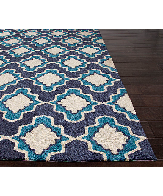 Jaipur Rugs Blue & Ivory Geo Moroccan Indoor Outdoor Rug