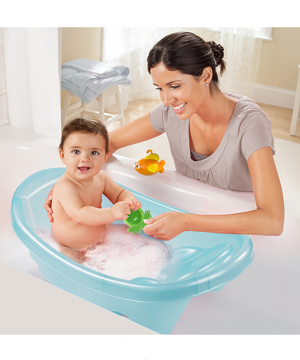 summer infant blue ocean buddies bath tub zulily. Black Bedroom Furniture Sets. Home Design Ideas
