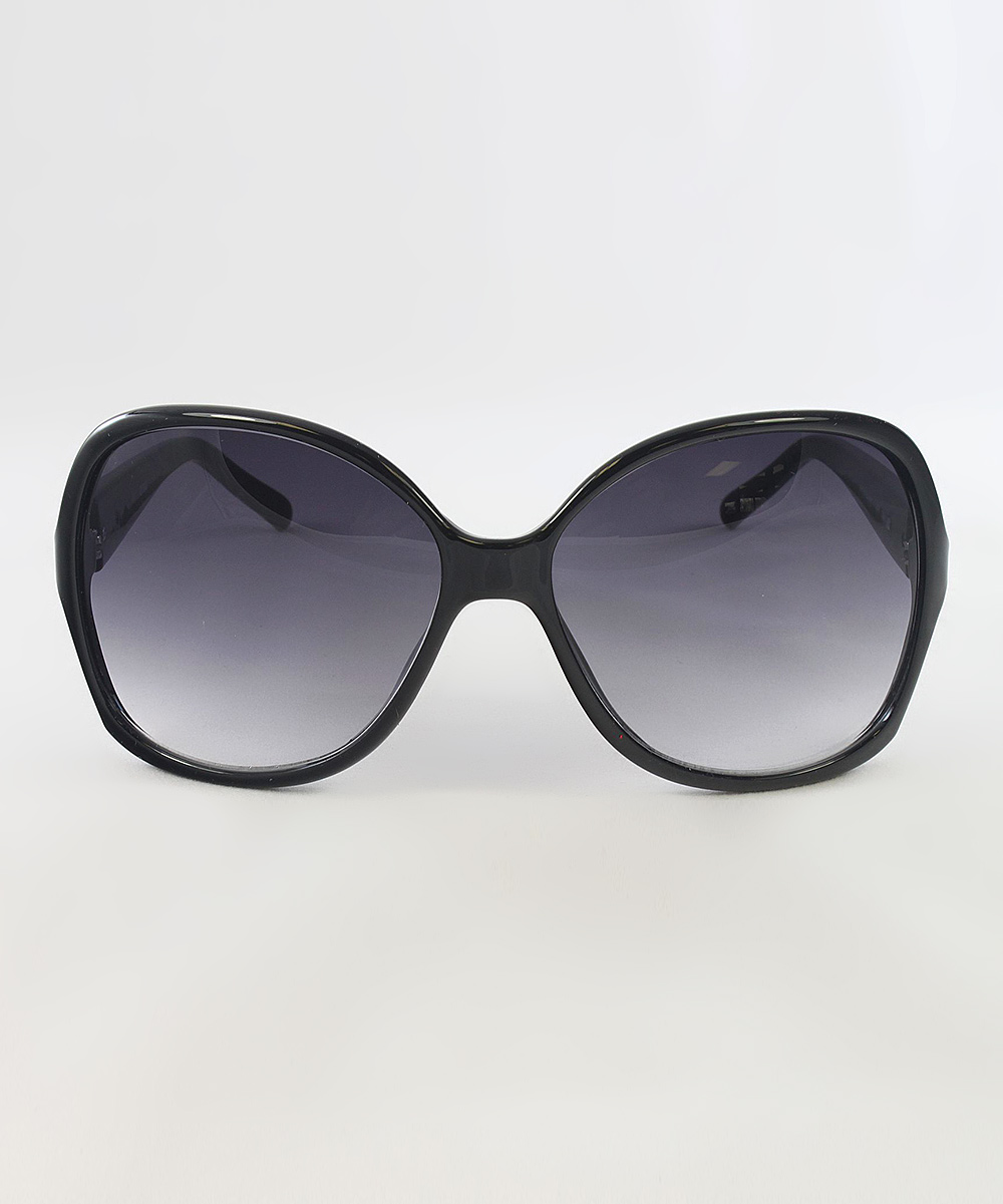 guess black logo butterfly sunglasses zulily