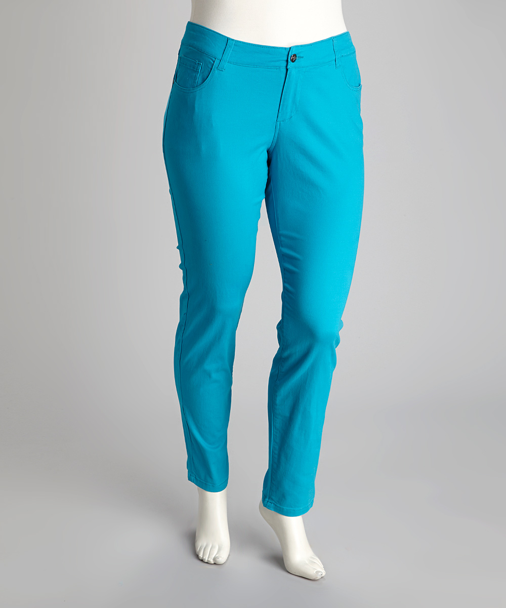 1826 Jeans Turquoise Plus Size Jeans Zulily