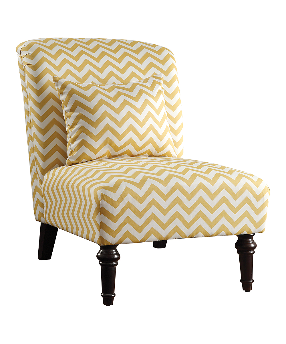Yellow Chevron Accent Chair Zulily