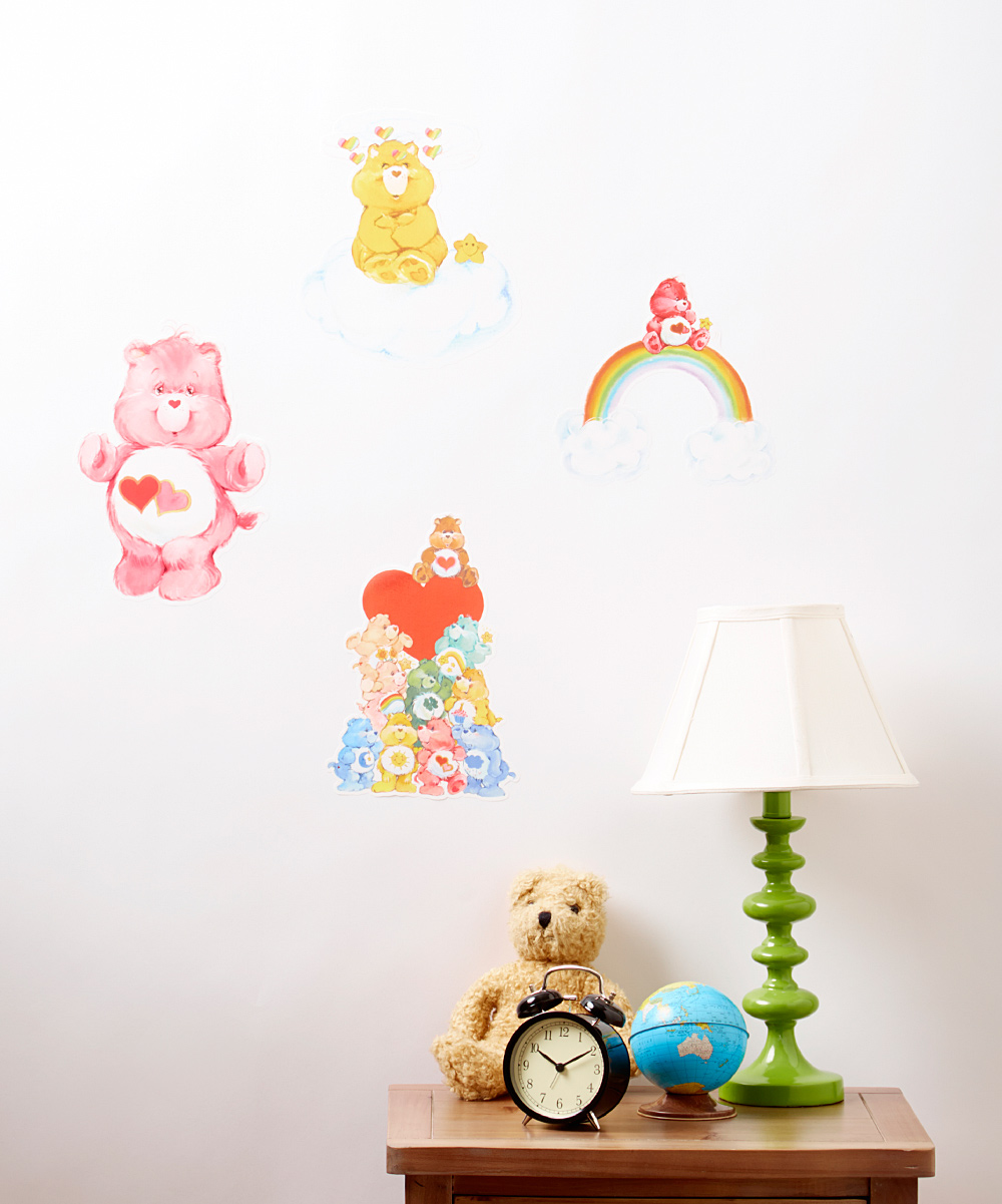 Care bears care bear classic love wall decal set zulily for Care bears wall mural