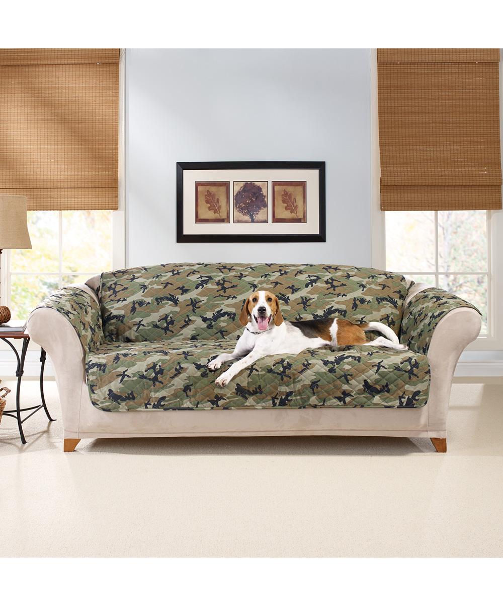 sure fit green camo sofa cover zulily