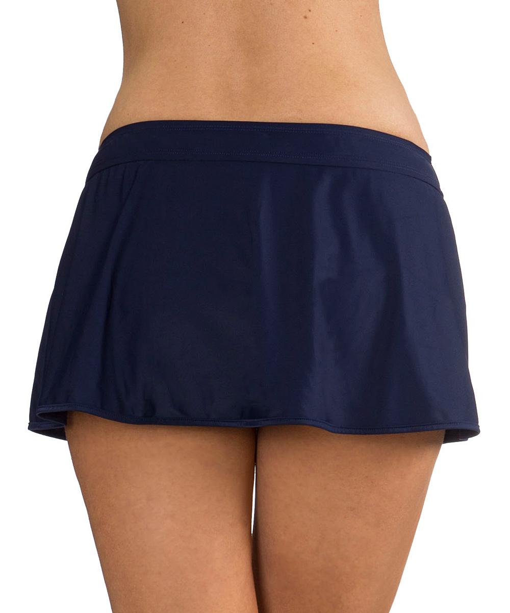 mazu swimwear navy swim skirt zulily