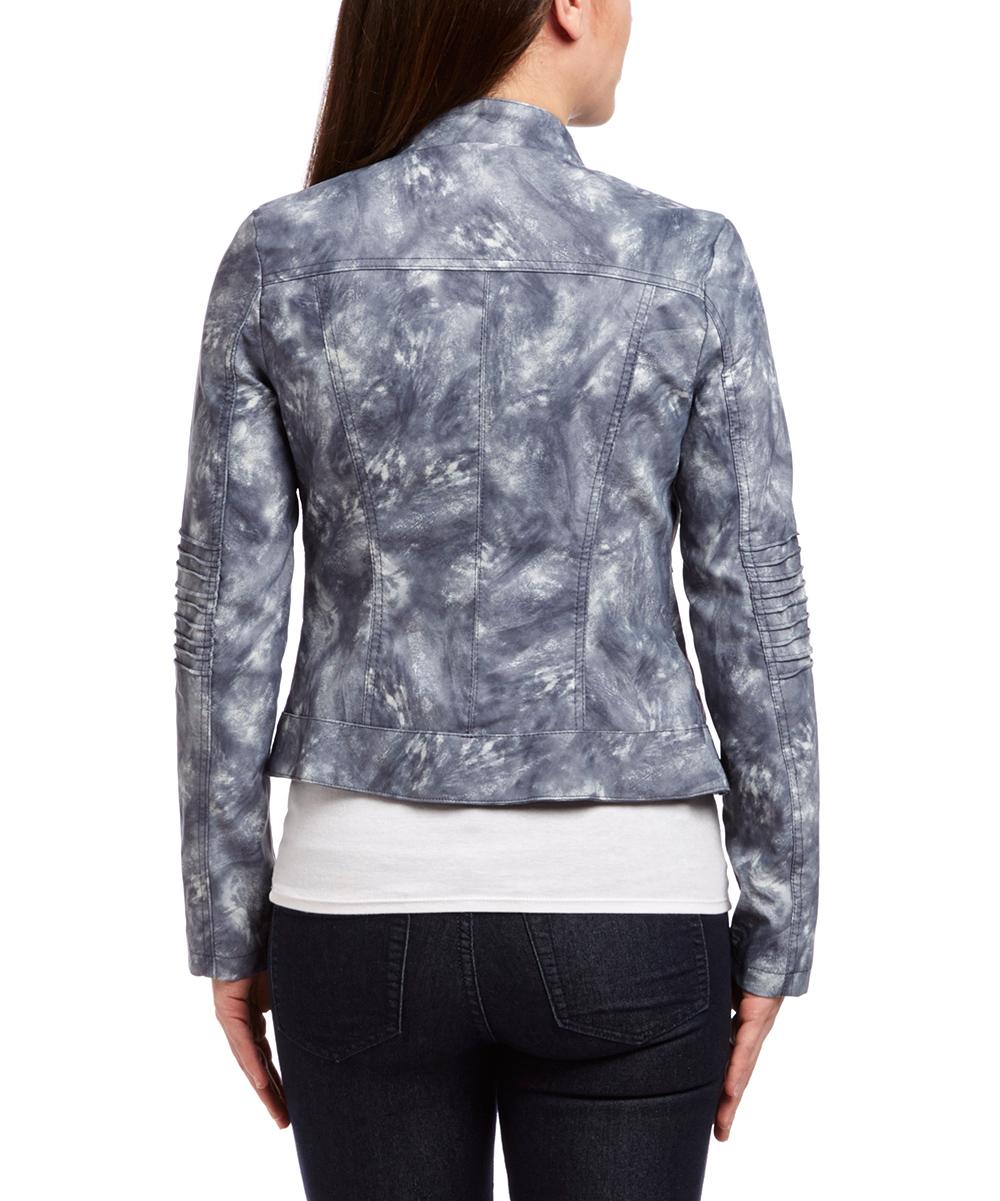 miller blue tie dye faux leather jacket zulily