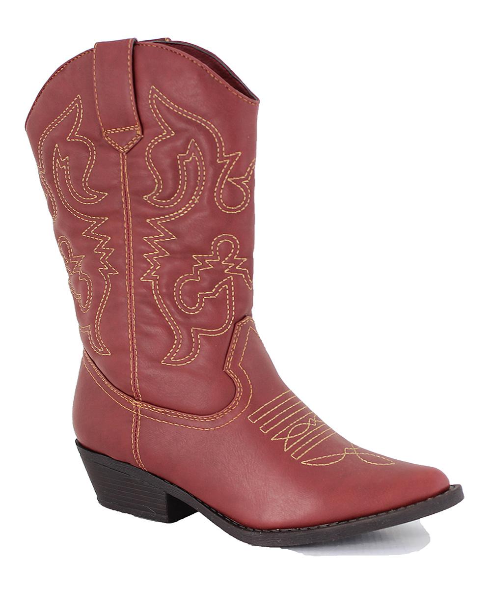 intaglia brick burnished cisco wide calf cowboy boot
