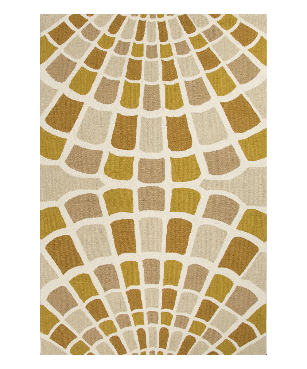Jaipur Rugs Yellow & Taupe Radial Tile Indoor Outdoor Rug