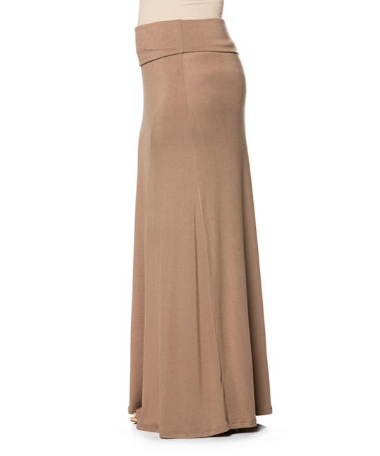 fashion usa beige midi skirt plus zulily