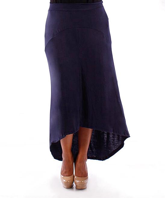 navy hi low skirt plus zulily