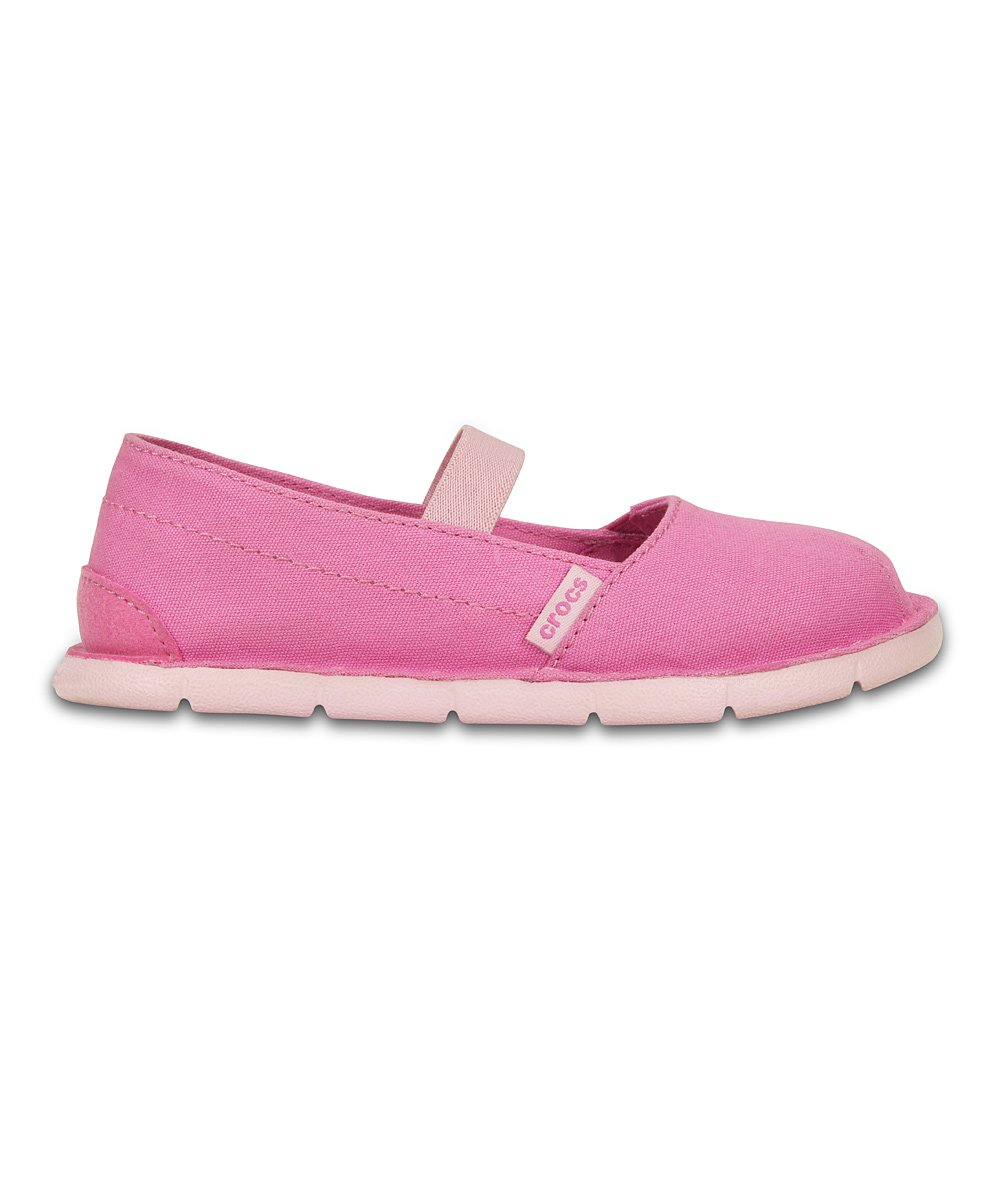 crocs pink bubblegum cabo slip on shoe toddler
