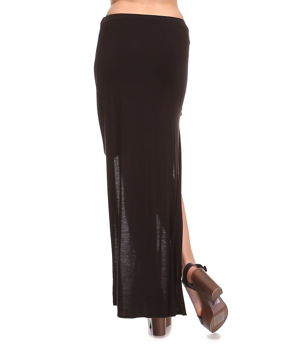 x black hi low maxi skirt zulily