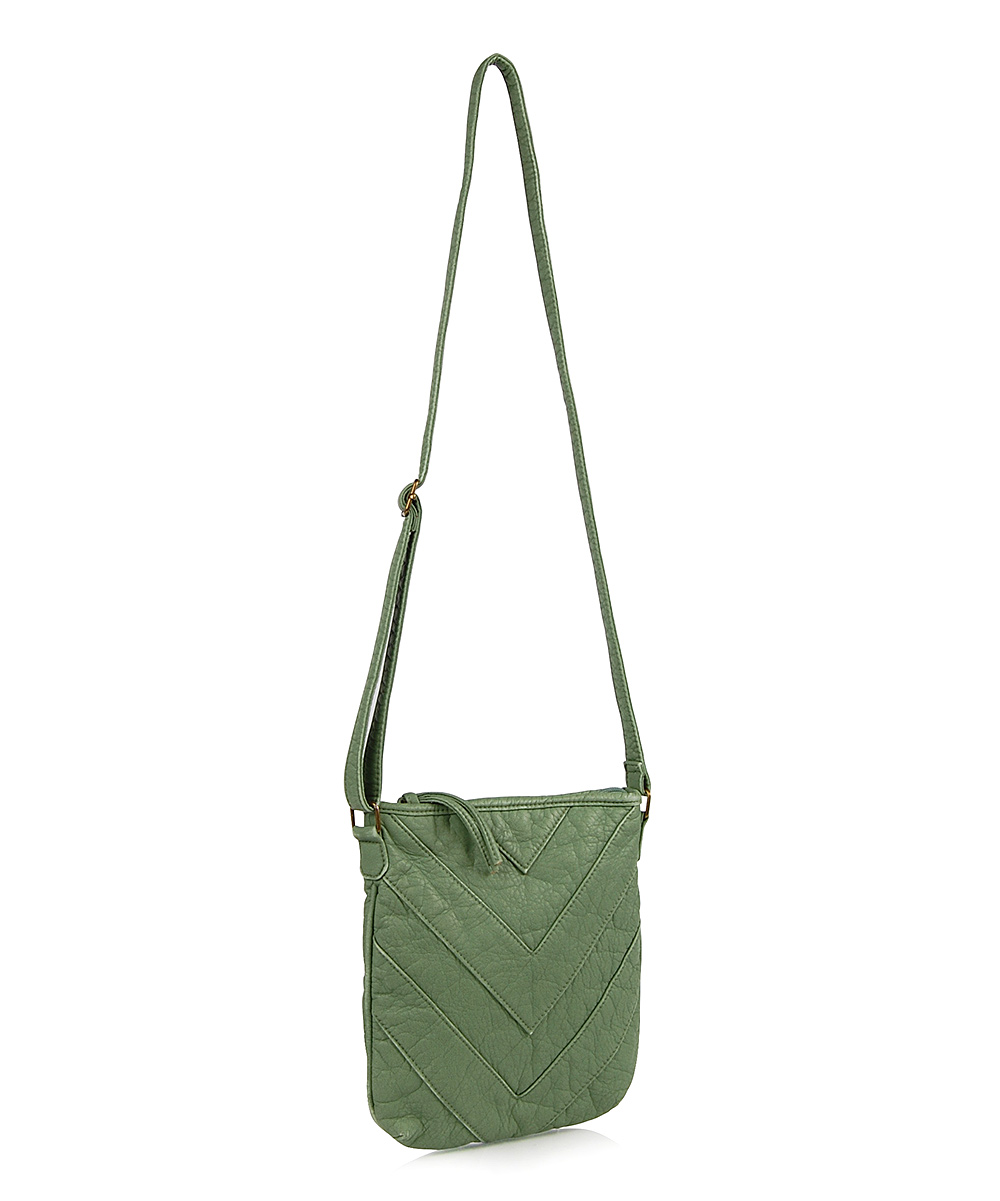 omg accessories mint chevron passport crossbody bag zulily