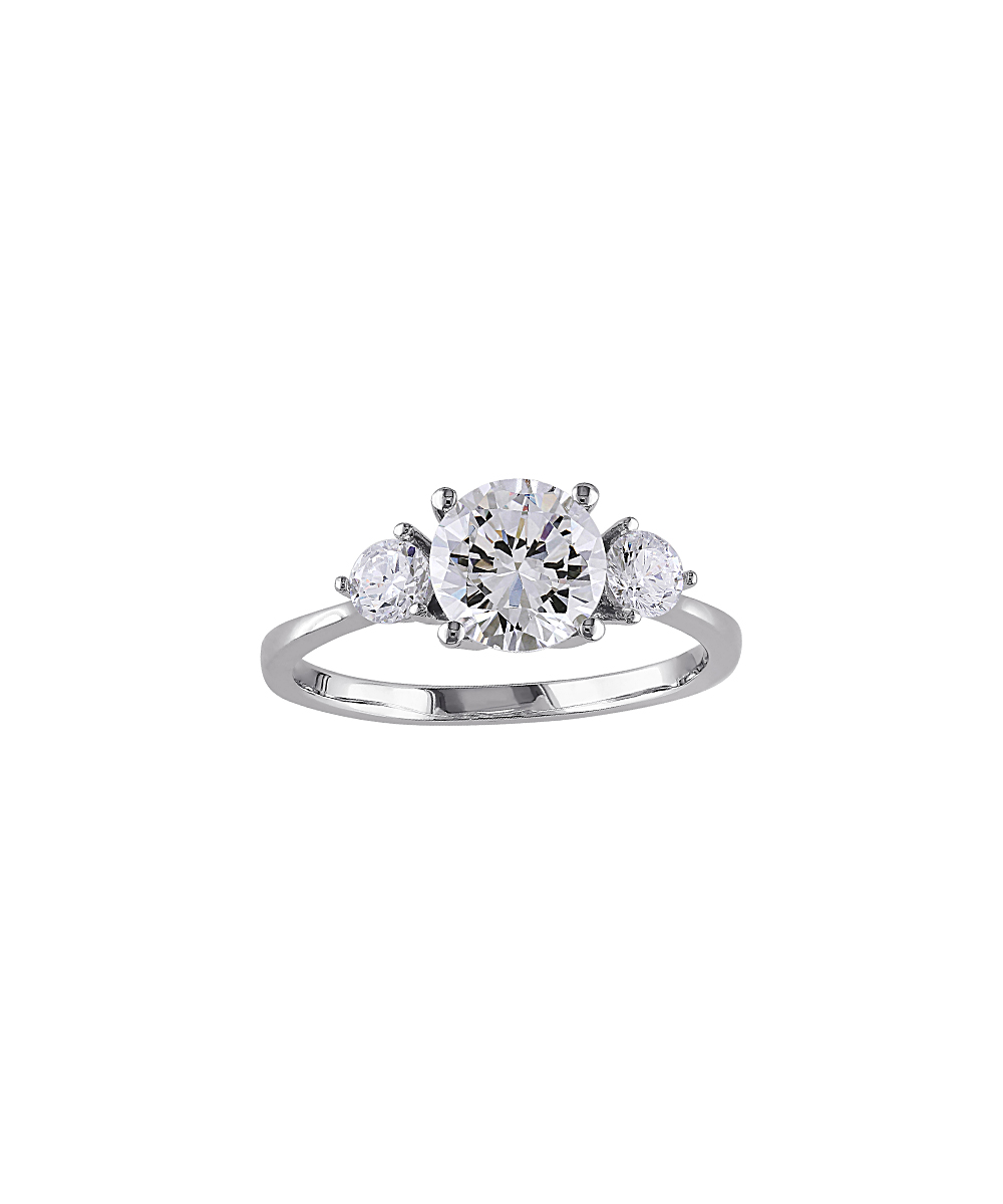 cubic zirconia sterling silver engagement ring zulily